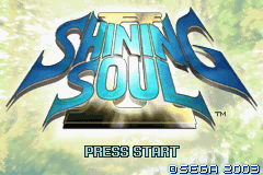 Shining Soul II Title Screen