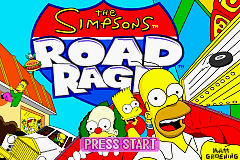 The Simpsons - Road Rage Title Screen