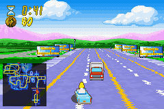 The Simpsons - Road Rage Screenshot 2