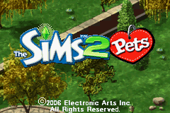 Sims 2, The - Pets Title Screen