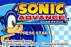 Sonic Advance (europe) Title Screen
