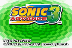 Sonic Advance 3 Title Screen