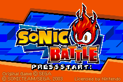 Sonic Battle Title Screen