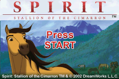 Spirit - Stallion of the Cimarron - Search for Homeland Title Screen