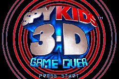 Spy Kids 3-D - Game Over Title Screen