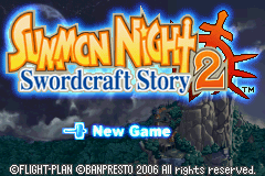 Summon Night - Swordcraft Story 2 Title Screen