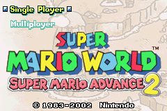 Super Mario Advance 2 - Super Mario World Title Screen