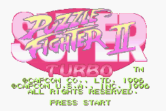 Super Puzzle Fighter II Turbo Title Screen