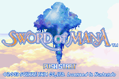 Sword of Mana (US) Title Screen