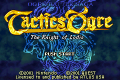 Tactics Ogre - The Knight of Lodis (mode 7)