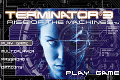 Terminator 3 - Rise of the Machines Title Screen