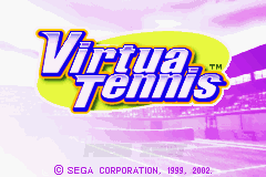 Virtua Tennis Title Screen