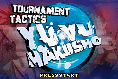 Yu Yu Hakusho - Ghostfiles - Tournament Tactics Title Screen