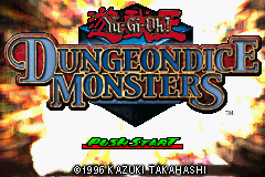 Yu-Gi-Oh! - Dungeon Dice Monsters Title Screen