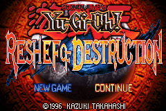 Yu-Gi-Oh! - Reshef of Destruction Title Screen