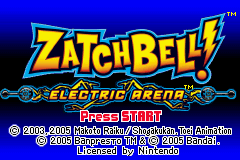 Zatchbell! - Electric Arena Title Screen