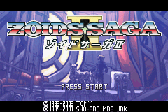 Zoids Saga II Title Screen