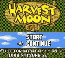 Harvest Moon GBC Title Screen