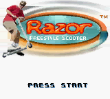 Razor Freestyle Scooter Title Screen