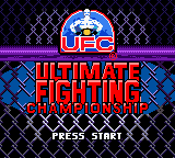 Ultimate Fighting Championship Title Screen