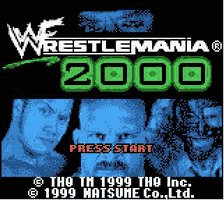WWF - Wrestlemania 2000 Title Screen