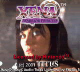 Xena - Warrior Princess Title Screen