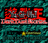 Yu-Gi-Oh! - Dark Duel Stories Title Screen