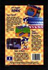 Sonic the Hedgehog Box Art Back