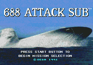 688 Attack Sub Title Screen
