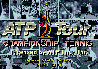 ATP Tour Championship Tennis Title Screen