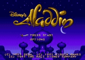 Aladdin Title Screen