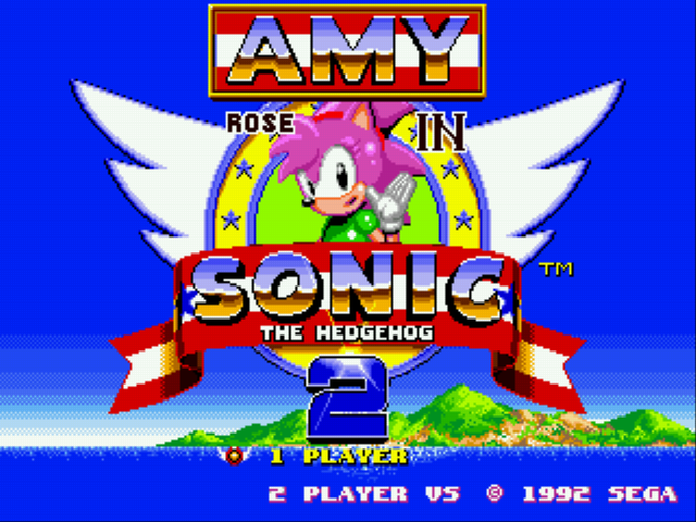 Amy Rose in Sonic the Hedgehog 2 Title Screen
