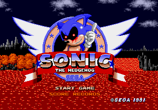 An Ordinary Sonic ROM Hack Title Screen