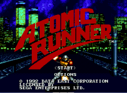 Atomic Runner Title Screen