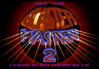 Blaster Master 2 Title Screen