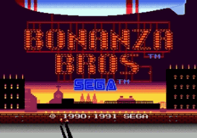 Bonanza Brothers Title Screen