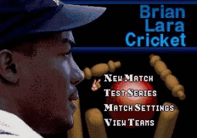 Brian Lara Cricket Title Screen