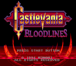 Castlevania - Bloodlines Title Screen