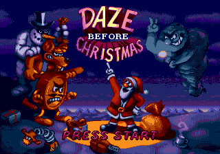 Daze Before Christmas Title Screen