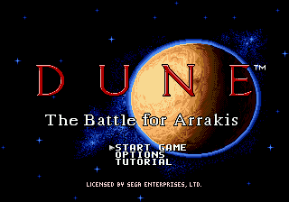 Dune - The Battle for Arrakis Title Screen