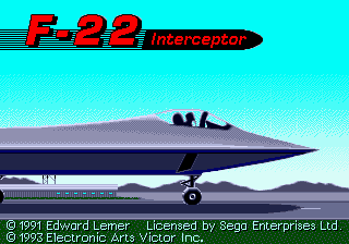 F-22 Interceptor Title Screen