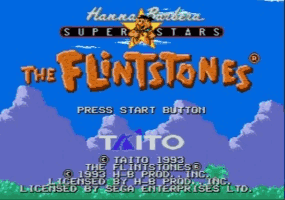 The Flintstones Title Screen