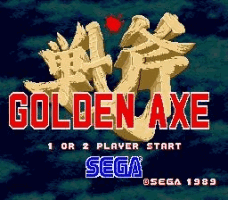 Golden Axe Title Screen
