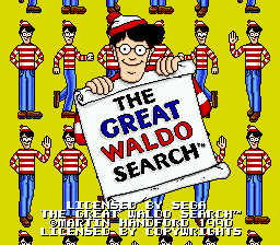 Great Waldo Search Title Screen