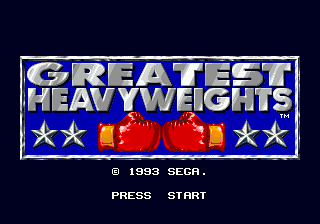 Greatest Heavyweights Title Screen