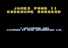 James Pond 2- Codename Robocod Title Screen