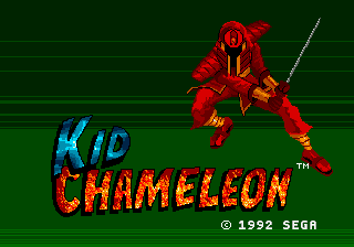 Kid Chameleon Title Screen