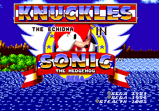 Play <b>Knuckles the Echidna in Sonic the Hedgehog</b> Online