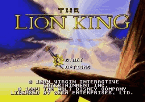 Lion King, The Title Screen