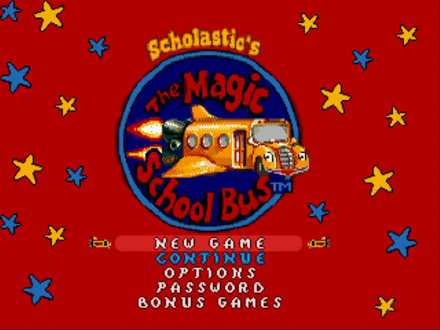 The Magic School Bus Title Screen